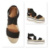 Jeffrey Campbell Merez Platform Sandal Size 10 Black Women Casual  New Photo