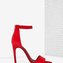 Jeffrey Campbell Meryl Suede Heel - Red Size 9.5 New in Box  Photo