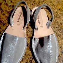 Jeffrey Campbell Metallic Gold Leather Slingback Sandals Women's Size 40 Us 10 M Photo