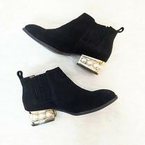 Jeffrey Campbell Metcalf Suede Pearl Heel Booties Photo