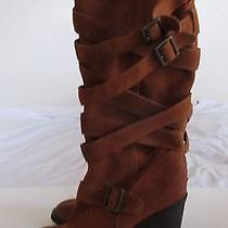 Jeffrey Campbell Mission Brown Suede Knee High Boots Women's Sz 8.5 Photo
