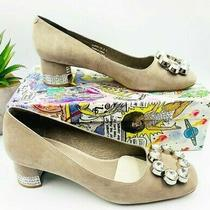 Jeffrey Campbell New 165 Size 8.5 Beige Carys Crystal Encrusted Pumps Photo