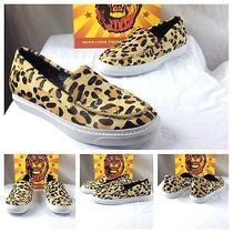 Jeffrey Campbell New Sexy Animal Print Calf Hair Cheetah Flats Sneakers 10 180 Photo