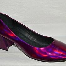 Jeffrey Campbell New Sz 9 M Pink Iridescent Patent Low Heel Pumps Shoes Photo