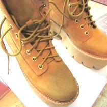Jeffrey Campbell Nirvana Boots 8.5 Us Camel Tan Platforms Leather Photo
