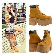 Jeffrey Campbell Nirvana Boots Size 7.5 New in Box Wheat  Photo
