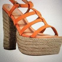 Jeffrey Campbell Norstrom Platform Sandals Espadrilles Orange 6m Nwt 139 Photo
