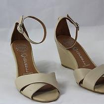 Jeffrey Campbell Nude Blush Wedge Sandal Ankle Strap Sz 7 5622 Photo