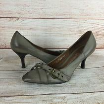 Jeffrey Campbell Oak Brown Leather Depoe Bay Pumps Heels Sz 8.5 Ibiza Last Photo