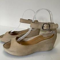 Jeffrey Campbell Open Toe Suede Wedge Sandals Ankle Strap Womens Shoes Size 8 Photo
