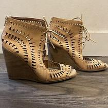 Jeffrey Campbell Open Toed Lace-Up Sandals Size 8 Photo
