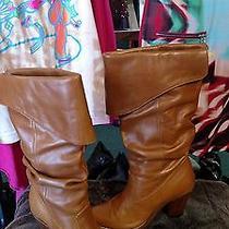 Jeffrey Campbell Orange Leather Western Frontier Retro Rockabilly Boots Sz 6 Otk Photo