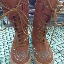 Jeffrey Campbell Ostrich Leather Boot 7 Photo