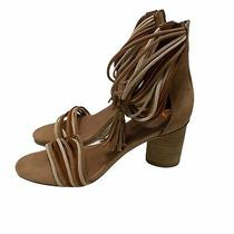 Jeffrey Campbell Pallas Ankle Strap Sandals Brown Tan Sz 8.5 Nwot Photo