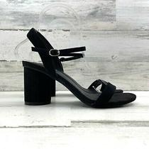 Jeffrey Campbell Peonies Sandal Heel Ankle Strap Open Toe Black Women's Sz 7.5 M Photo