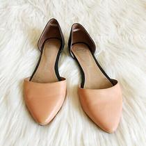 Jeffrey Campbell Pink & Black d'orsay Pointed Toe Flats Shoes Size 7 Photo