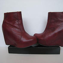 Jeffrey Campbell Pixie Zeppa Leather Platform Wedge Booties Ankle Boots7/ 6.5us Photo