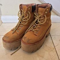 Jeffrey Campbell Platform Combat Boots  Brown  Size 7 Photo