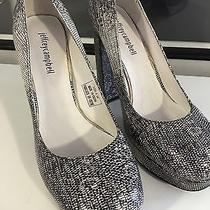 Jeffrey Campbell  Platform Heels Leather Snake Print Size 8.5 Photo