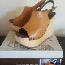Jeffrey Campbell Platform Wedges High Heel Sandals Sz 9 With Studs & Buckle-Cute Photo