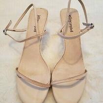 Jeffrey Campbell Pletana Ankle Strap Sandals Heels Nude Leather Women Size 9.5 M Photo