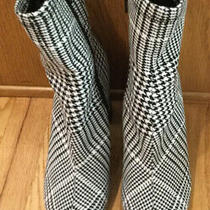 Jeffrey Campbell Pointed Toe Ankle Boot . Black White Herringbone. Sz. 7. Nwob. Photo