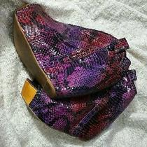 Jeffrey Campbell Purple Leather Booties  Photo