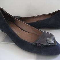 Jeffrey Campbell 'Reagle' Blue Suede Low Wedge Ballet Flats Size 8.5m Photo