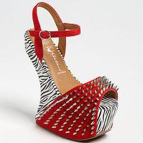 Jeffrey Campbell Red Black Zebra