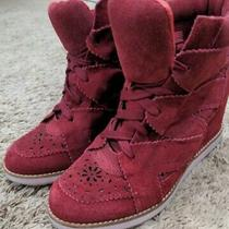 Jeffrey Campbell Red Ibiza Wedge Sneakers Size 8 Us Photo