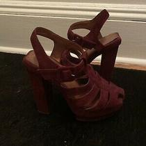 Jeffrey Campbell Red Platform Eva B Sandals Shoes 6.5 Photo