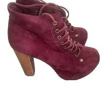 Jeffrey Campbell Red Suede Booties Size 8 Photo