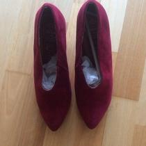 Jeffrey Campbell Red Suede Wedges. Excellent Condition Size 8 Photo