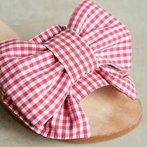 Jeffrey Campbell Regalo Gingham Slide Bow Sandals Sz 9 New  - Runs Smals Photo
