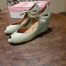 Jeffrey Campbell Regina Wedge Shoes Leather New in Box 8.5m Green Photo
