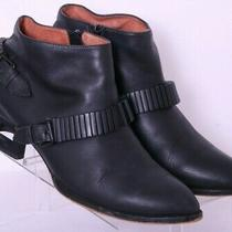 Jeffrey Campbell Remus Black Leather Side Zip Ankle Bootie Shoes Women's Us 8.5  Photo