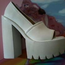 Jeffrey Campbell Reyes White Shoes Size 8 Photo
