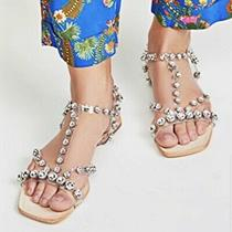 Jeffrey Campbell Rhinestone Sandals 8 Photo
