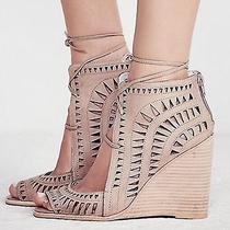 Jeffrey Campbell Rodillo Nude Hi Cut Out Wedge Sandal    Sz 7  Msrp149 Photo