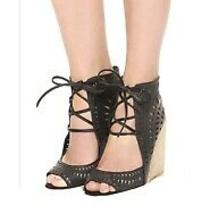 Jeffrey Campbell Rodillo Wedge Laser Cut Out Sandals 6.5 Photo