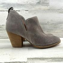 Jeffrey Campbell Rosalee Ankle Bootie Pull on Stacked Heel Taupe Women's Sz 9  Photo