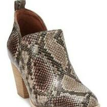 Jeffrey Campbell Rosalee Snake-Embossed Leather Ankle Bootie Pre-Owned Size 11 Photo