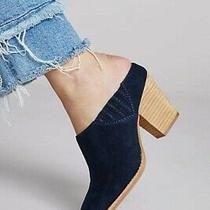 Jeffrey Campbell Rosalie Mules - Navy- Womens Size 10- Preowned Photo