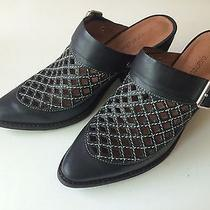 Jeffrey Campbell Route 66 Mules Leather Size 8 Rare Photo