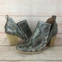 Jeffrey Campbell Rowlan Leather Snakeskin Embossed Ankle Booties Sz 7 Us Boots Photo