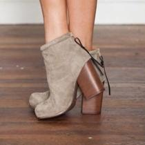 Jeffrey Campbell Rumble Taupe Suede Bootie Photo