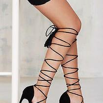 Jeffrey Campbell Sabra Heel - Black New in Box Size 9  Photo