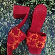Jeffrey Campbell Sandal Heels Knit Suede Size 9 Photo