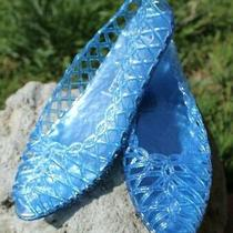 Jeffrey Campbell Sandals Jellies Jelly Shoes Size 8.5 9 Blue Summer School New Photo