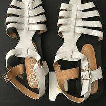 Jeffrey Campbell Sandals Size 9.5 White Strappy Ibiza Last Flats Photo